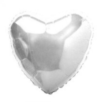 Folija srebrno srce