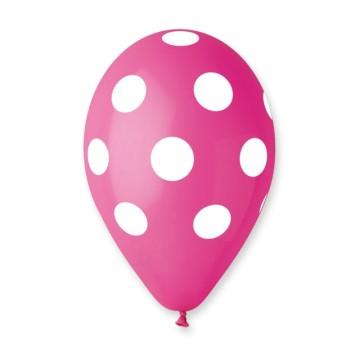 Štampani balon tačkica ciklama